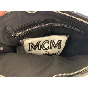 MCM Bags - Authentic mcm medium stark pouch in gunta m stripe